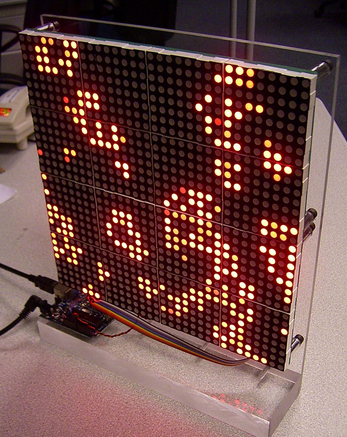 Led matrix on arduino retrointerfacing